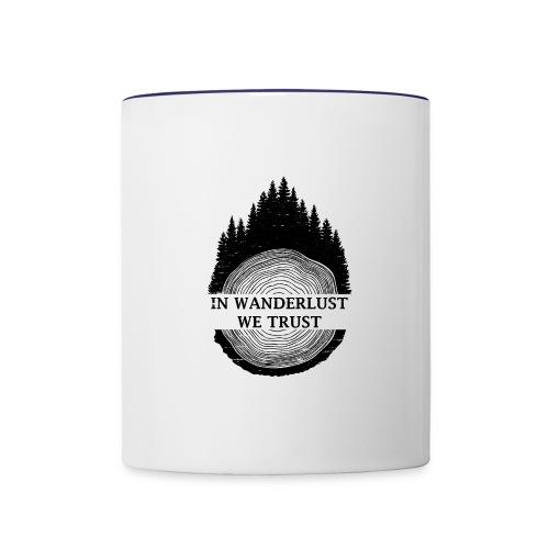 In Wanderlust We Trust - Contrast Coffee Mug