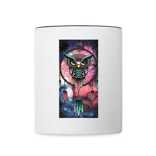 Owl dreamcatcher - Contrast Coffee Mug
