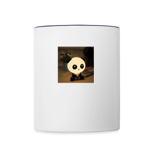 cute panda - Contrast Coffee Mug