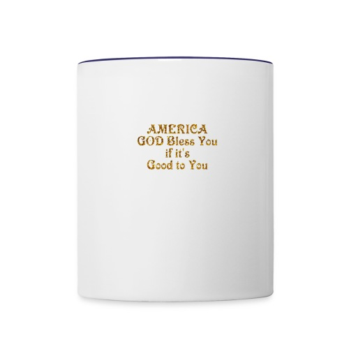 America God Bless You - Contrast Coffee Mug