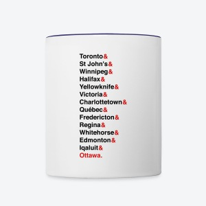 Canada's Capitals - Red & Black - Contrast Coffee Mug