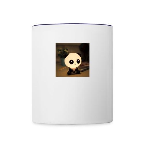cute panda - Contrast Coffee Mug