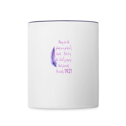 Proverbs 19:21 women pin - Contrast Coffee Mug