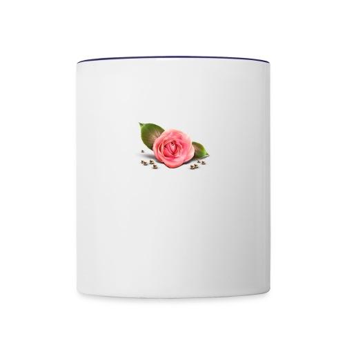 Pink Rose - Contrast Coffee Mug