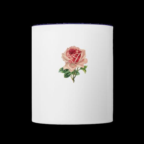 Vintage Flower Design - Contrast Coffee Mug