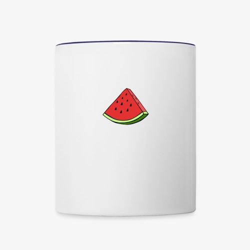 watermelon wedge - Contrast Coffee Mug