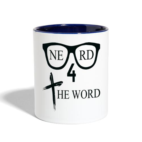 Nerd 4 The Word Design png - Contrast Coffee Mug