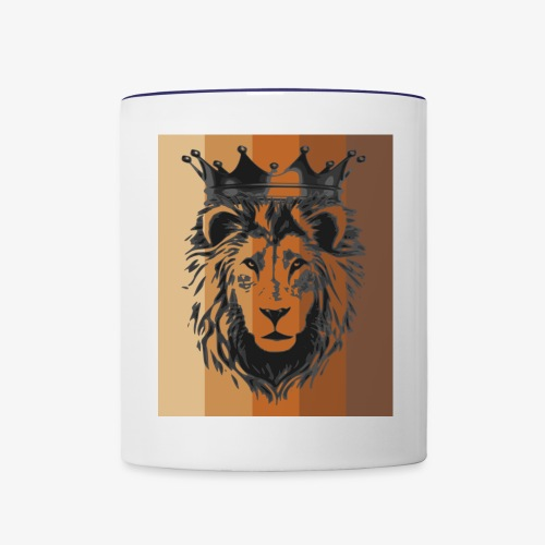 lion colors king - Contrast Coffee Mug