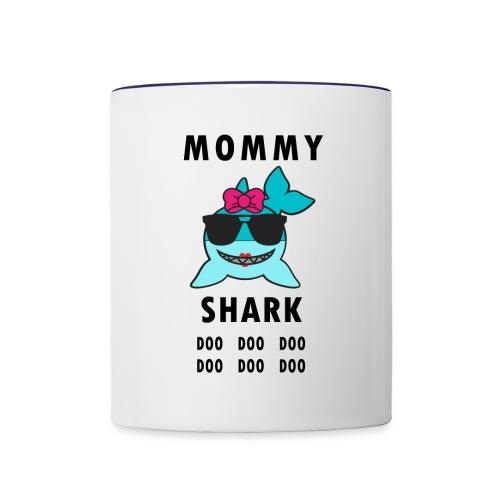 Mommy Shark Doo Doo Doo - Contrast Coffee Mug