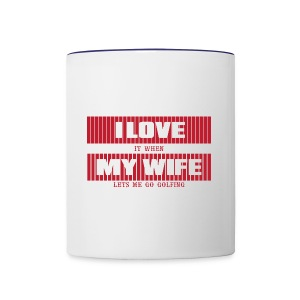 I LOVE MY WIFE - Contrast Coffee Mug