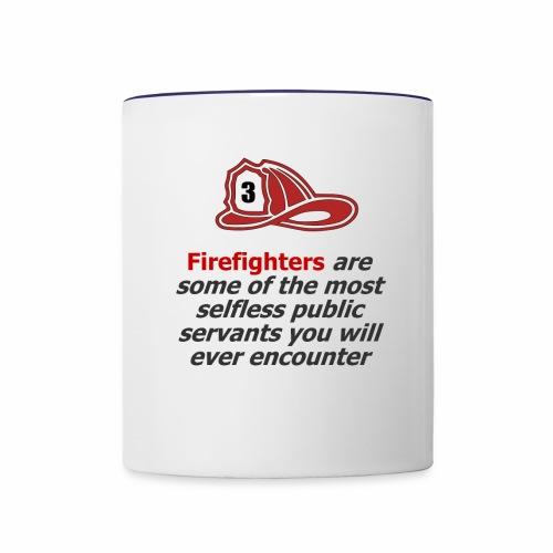 Custom phrase for firefighters - Contrast Coffee Mug