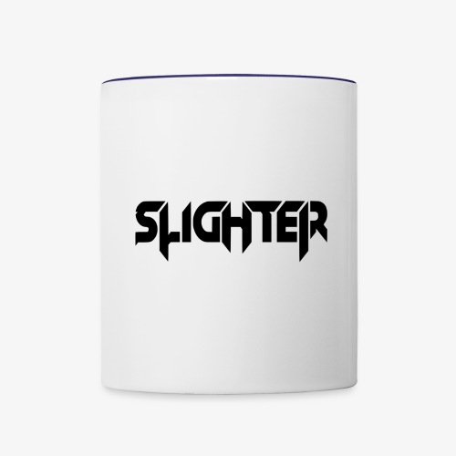 Slighter Black Logo - Contrast Coffee Mug