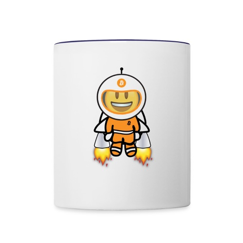 Bit for Buck: Buck's Happy Jetpack Coffee Mug - Contrast Coffee Mug
