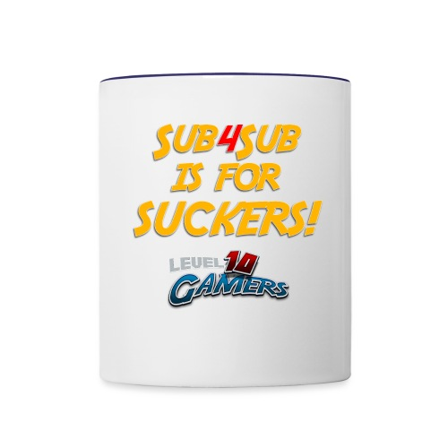 Anti Sub4Sub - Contrast Coffee Mug
