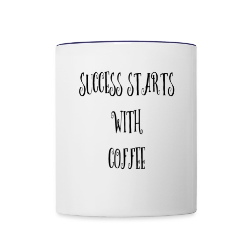 Success Starts With Coffee - Contrast Coffee Mug