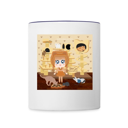 Kittie Girl - Contrast Coffee Mug