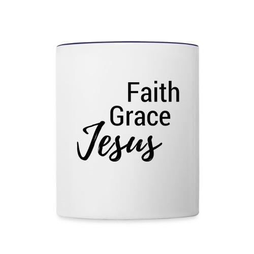 Faith Grace Jesus - Contrast Coffee Mug