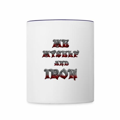 me myself and iron - Contrast Coffee Mug