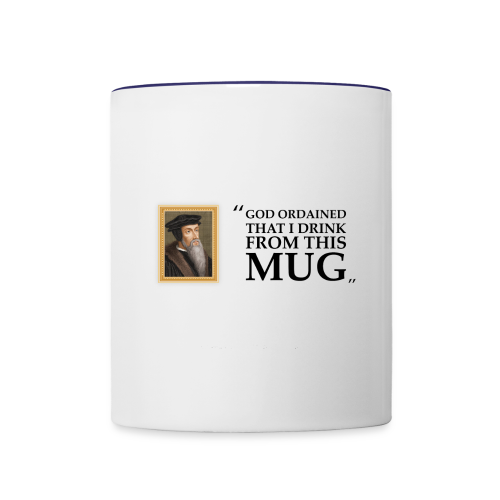 John Calvin Mug - Contrast Coffee Mug