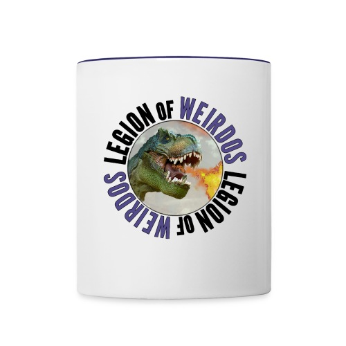 Legion of Weirdos Dino Circle - Contrast Coffee Mug
