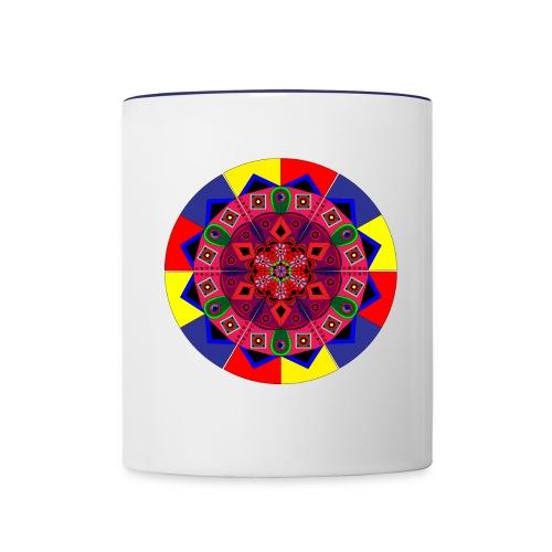 Mandala Colourful Cool Design - Contrast Coffee Mug