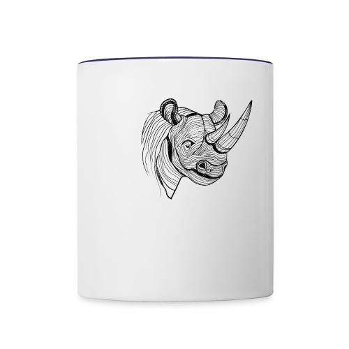 Save the Rhinos - Contrast Coffee Mug