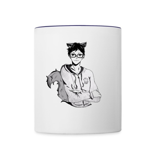 Chuki the Wolf Fanart - Contrast Coffee Mug