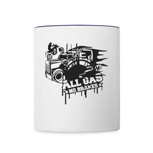 All Gas no Brakes - Contrast Coffee Mug