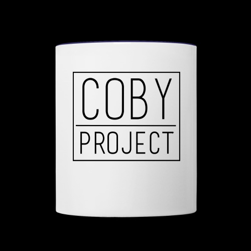 coby logo blk - Contrast Coffee Mug