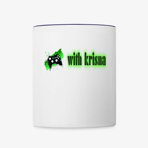 gaming with krisna merch - Contrast Coffee Mug