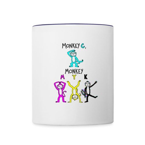 monkey see myk - Contrast Coffee Mug