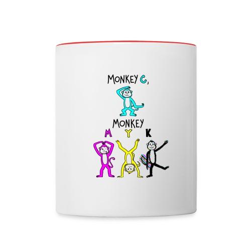 monkey see myk - Contrast Coffee Mug
