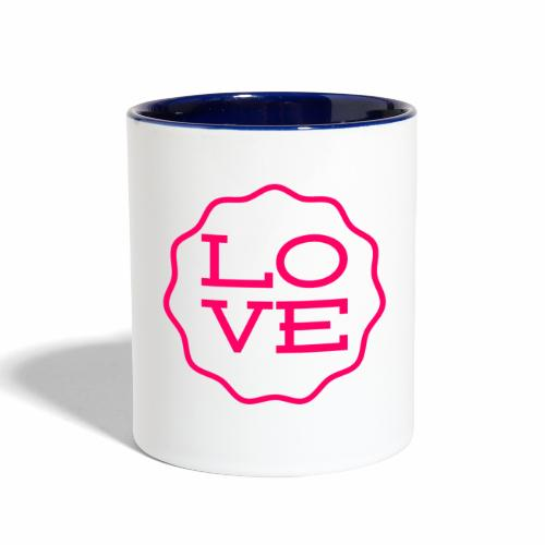 love design - Contrast Coffee Mug