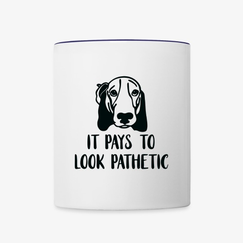 It Pays To Be Pathetic - Black - Contrast Coffee Mug