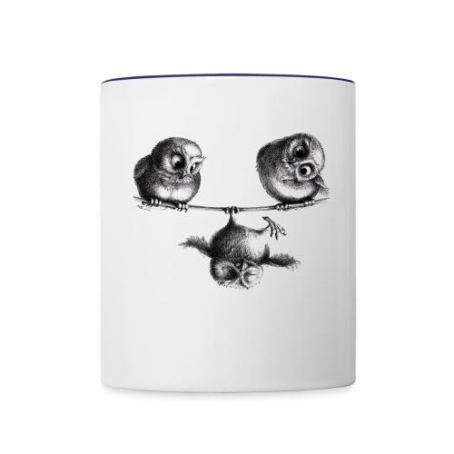 three owls - freedom and fun - Contrast Coffee Mug