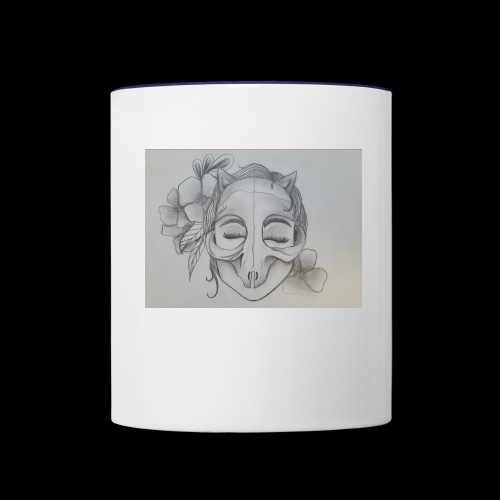 Masked Girl - Contrast Coffee Mug