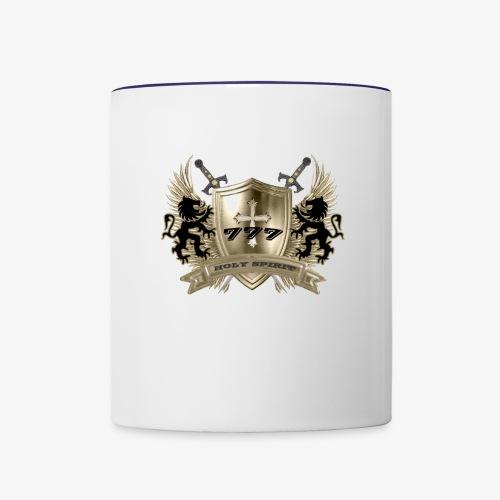 HOLY SPIRIT GOLD SHIELD - Contrast Coffee Mug