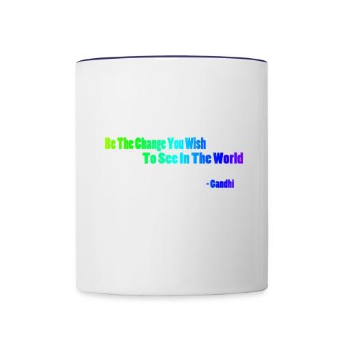 Motto by Gandhi - Contrast Coffee Mug