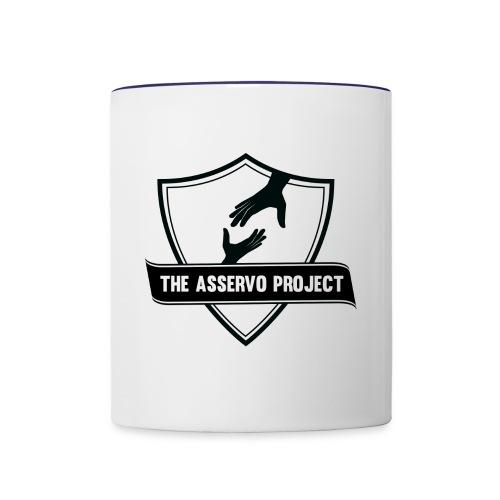 The Asservo Project Black Logo - Contrast Coffee Mug