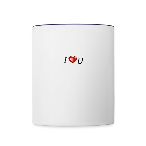 I love you - Contrast Coffee Mug