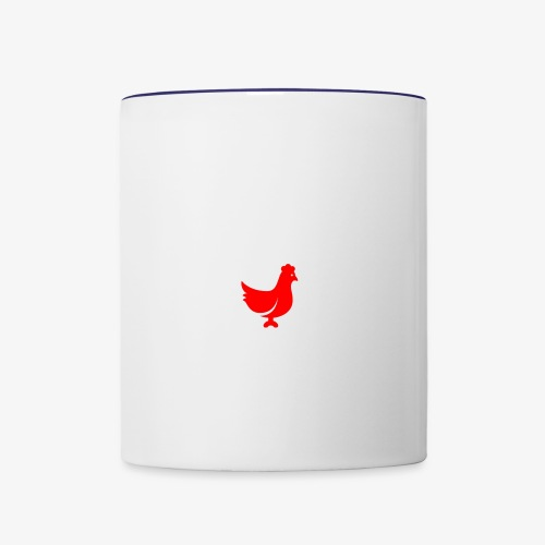 red chicken - Contrast Coffee Mug