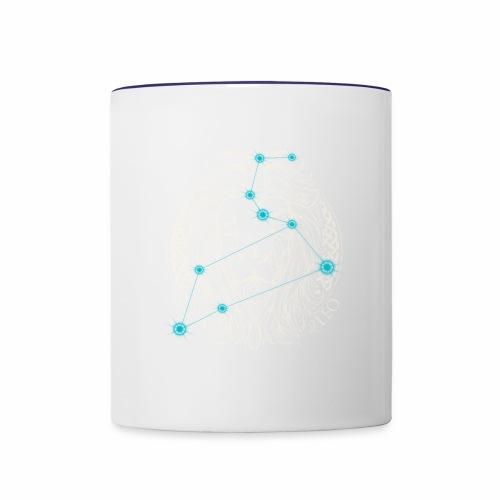 LEO Zodiac Constellation with Celtic Ring - Contrast Coffee Mug