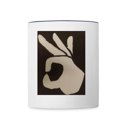 Finger Meme Hoodie - Contrast Coffee Mug