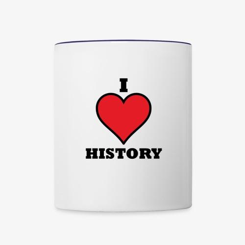 I HEART HISTROY - Contrast Coffee Mug