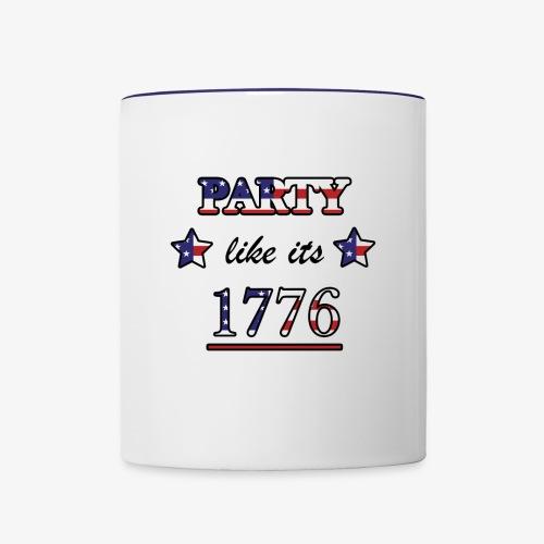 Party Like It's 1776 - Contrast Coffee Mug