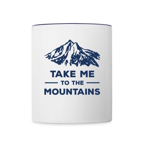 Take me to the mountains T-shirt - Contrast Coffee Mug