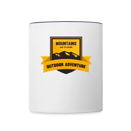 Mountains Dare to explore T-shirt - Contrast Coffee Mug