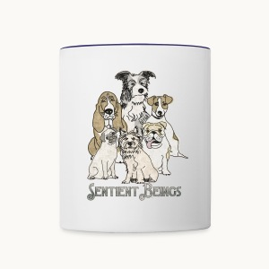 DOGS-SENTIENT BEINGS-white text-Carolyn Sandstrom - Contrast Coffee Mug
