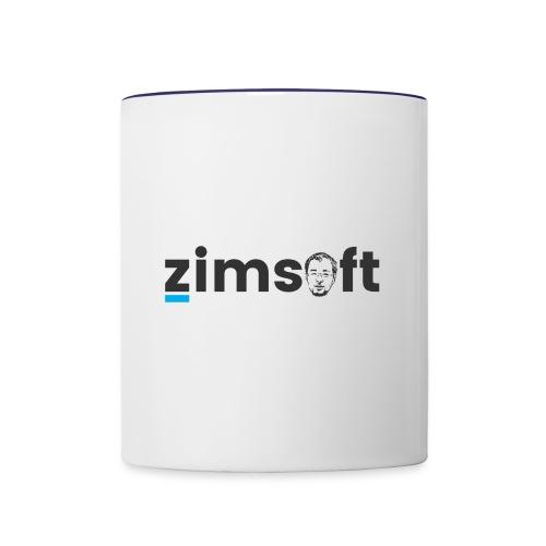 zimsoft dark cropped - Contrast Coffee Mug