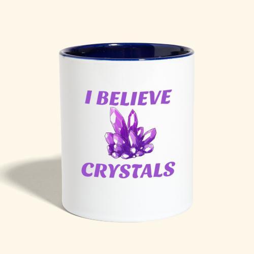 I BELIEVE IN CRYSTALS TEE - Contrast Coffee Mug